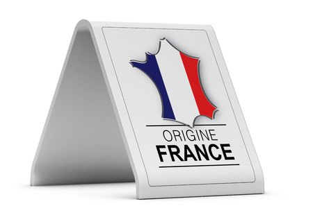 europe: French Product Sign over white background