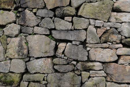 The old Roman wall in Tui - Galicia, Spain