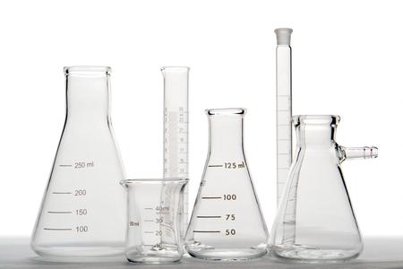 Assorted research laboratory glassware photo