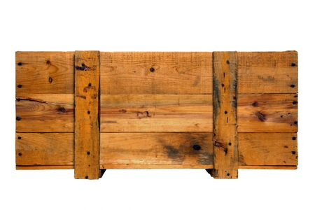 Old fashioned wood crate isolated on white