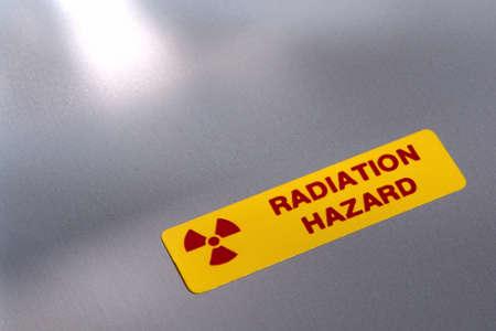 Radiation hazard label on industrial equipment Stock Photo - 1703825