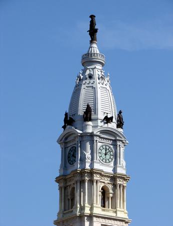 william penn: Statue of William Penn above Philadelphia City Hall