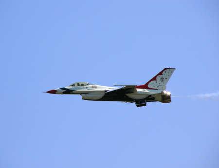 usaf: USAF Thunderbirds aerial demonstration plane in flight