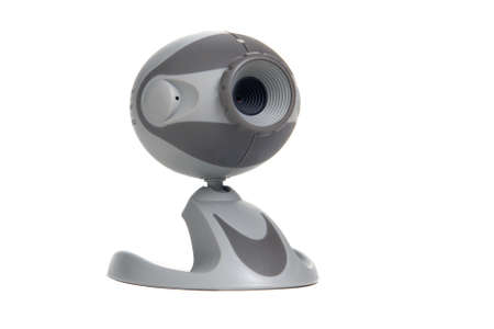 Grey computer web cam isolated over white Stock Photo - 1717950