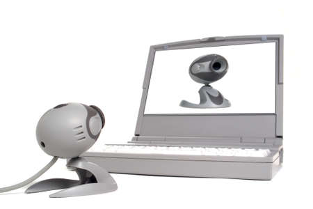 Web cam looking at itself on a laptop computer screen Stock Photo - 1717959