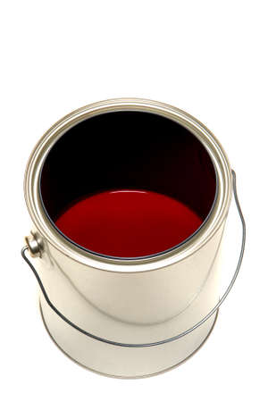 Half empty paint can over white background Stock Photo - 1717974