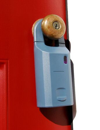 Electronic lock box used by real estate agents photo