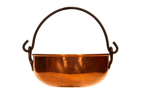 Antique copper kettle reproduction isolated over white Stock Photo - 2515011
