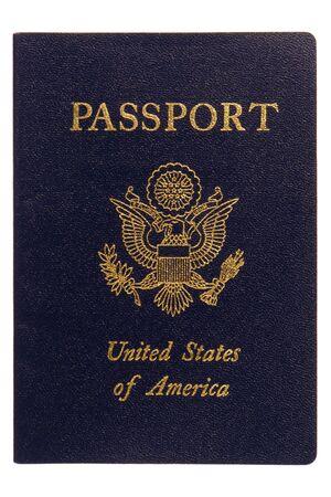 pasaportes: Am�rica pasaporte cubrir cerca aislados en blanco