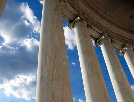jefferson: Ionic style column in the portico of the Jefferson Memorial in Washington DC