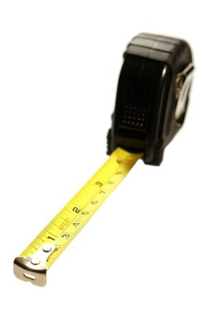 Self retracting construction tape measure with inch and centimeter markings Stock Photo - 3923533