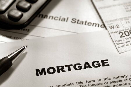 Residential mortgage generic form with W2 calculator and financial statement Stock Photo - 4082505