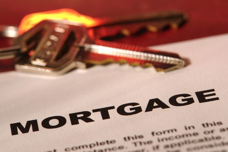 Residential mortgage generic form with set of keys Stock fotó