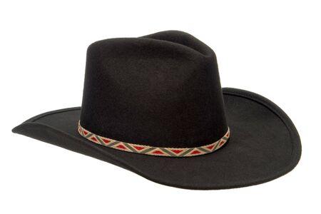 stetson: Black felt Western rodeo cowboy hat isolated on white
