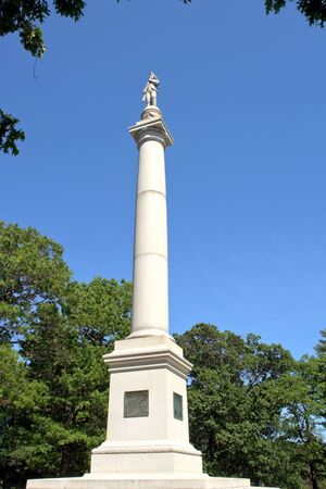 revolutionary war: Fort Mercer Monument at Red Bank Battlefield Park in National Park New Jersey