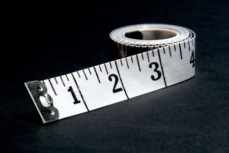柔軟性の高いガラス繊維ロール リボン テープ メジャー 写真素材