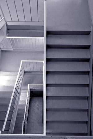 Commercial building emergency exit stairway viewed from above photo