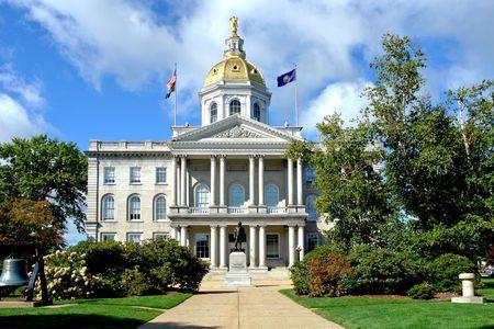 hampshire: Capitolio del Estado de New Hampshire en Concord  Foto de archivo