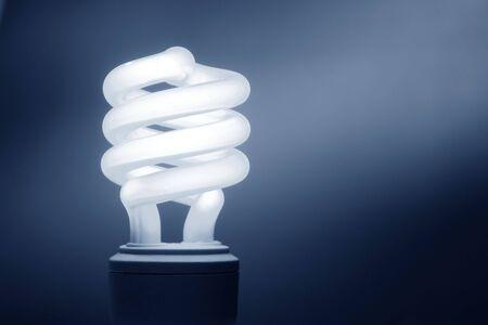 Energy efficient CFL compact fluorescent light bulb lamp photo