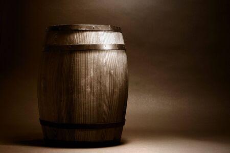 Old antique decorative wood barrel Stock Photo - 6564132