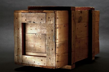 crate: Old distressed wood shipping crate