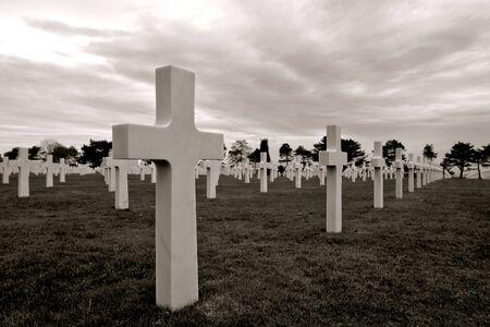 D dag Normandië 1944 geallieerde invasie stranden historische site American Cemetery bij Colleville
