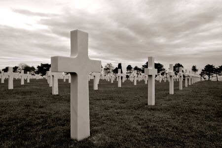 D Day Normandy 1944 Allied invasion beaches historic site American Cemetery at Colleville Stock Photo
