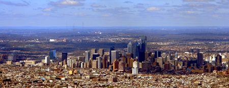필라델피아: Panoramic view of Philadelphia Pennsylvania Downtown Center City (all visible signs and billboards have been blanked out)