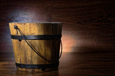 Antique wood bucket reproduction