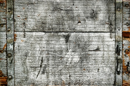 グランジの風化と古いアンティークの木製のボックスの背景