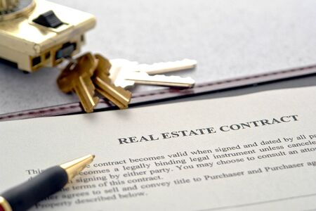 Contract For House Sale Stock Photos & Pictures. Royalty Free