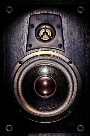 loudspeaker: High fidelity audio stereo system sound speaker