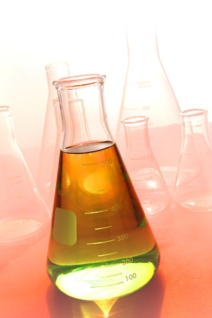 conical: Scientific laboratory glass conical Stock Photo