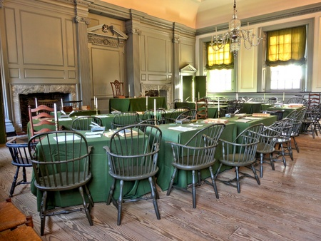 Historic Assembly room at Independence Hall in Philadelphia Pennsylvania as home of the July fourth 1776 signature of the United States Declaration of Independence by the American congress and birthplace of the USA  Stock Photo - 17261621
