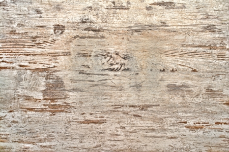 Antique old white peeling and scratched aged paint on weathered wood boards distressed wall background  Фото со стока