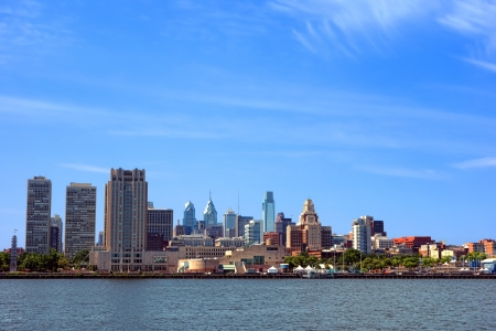 Downtown Philadelphia Pennsylvania Center and Old City scenic cityscape photo