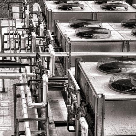 compresor: Fuerza industrial de refrigeraci�n HVAC acondicionador de aire del ventilador del compresor
