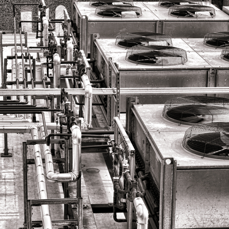 Industriële kracht koeling HVAC airco compressor fan