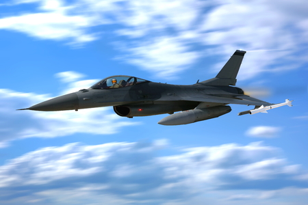 3D F-16 Fighting Falcon Air Force vliegtuig straaljager vliegtuig