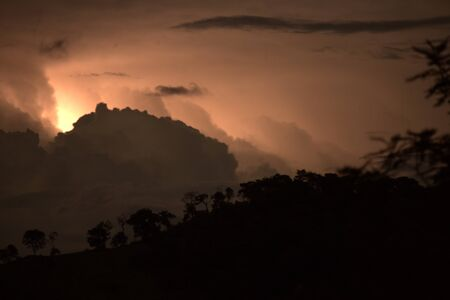 Intra cloud lightning over the hills of Minas Gerais.