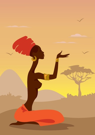 African Woman Stock Vector - 11613648