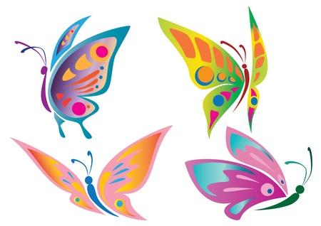 mariposa azul: Iconos de la mariposa Vectores
