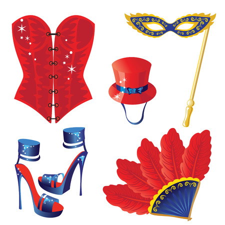 carnival mask: Accessories for Carnival  icon Illustration