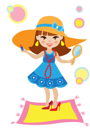 pretty little girl: Little girl wants to grow