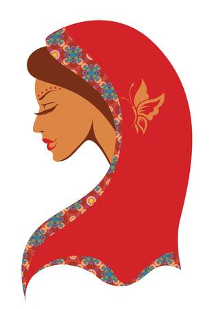 sonrisa hermosa: Ilustraci�n vectorial de la mujer india