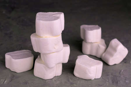 Large white marshmallow. Close-up. Stock fotó