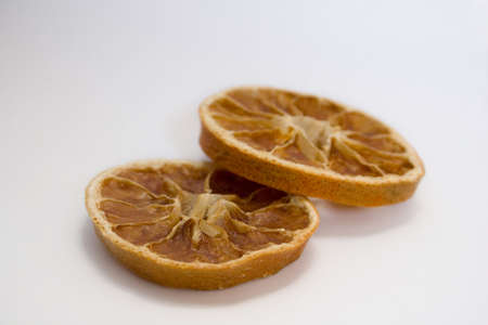 isolated photo of the dried slices of orange