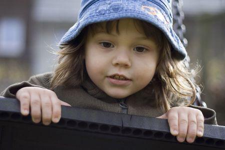 girl on the playground Stock Photo