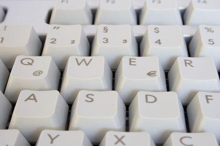 function key: grey PC keyboard. close up. Stock Photo