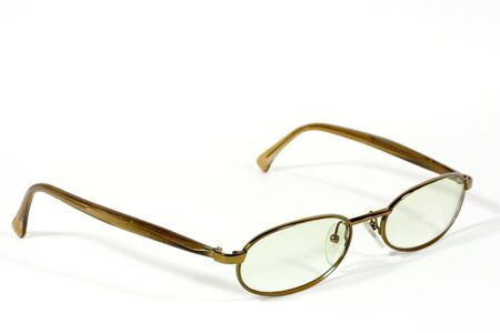 the pair of eyeglasses isolated on white